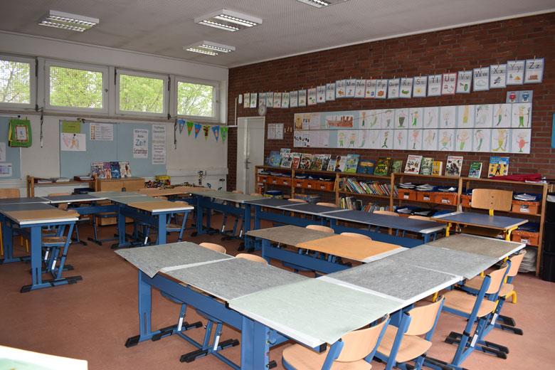 Klassenraum in der KBS